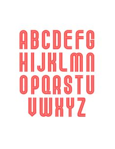 KULT Typeface by Viet Huynh, via Behance