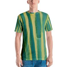 YUNY Men Color Conjoin Cotton Comfort African Style Tee Shirt 7 M