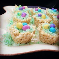 Easter Rice Krispie Bird Nests