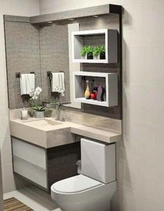 47 einzigartige kleine Badezimmer-Dekor-Ideen - # Any part of home is important and therefore you Simple Bathroom, White Bathroom, Bathroom Interior, Modern Bathroom, Bathroom Ideas, Budget Bathroom, Bathroom Storage, Bathroom Closet, Bathroom Cabinets
