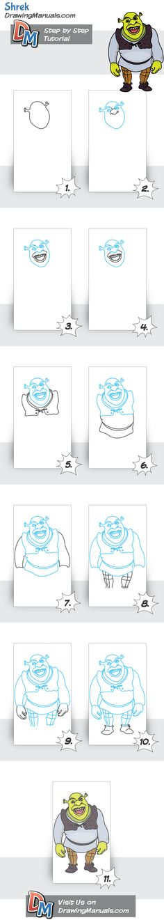 How to Draw Shrek, Step-by-Step
