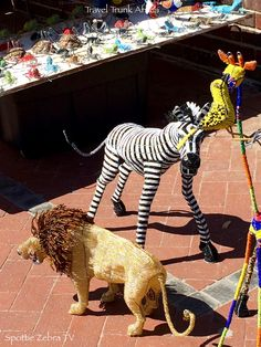 Beaded Animals. Just how cool are they? Found street side of Victoria Road, Camps Bay