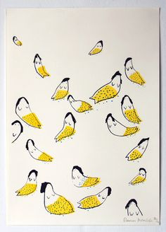Mermaids print for Bolt Editions by Eleanor Meredith (or the way I see it - lemons with boobs:).