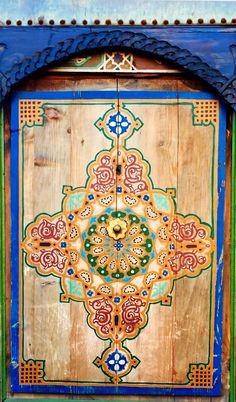 Colorful blue and gold doors in Marrakech Morocco  sc 1 st  Pinterest : nord doors - pezcame.com