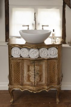 Some French Inspiration for a Bathroom Vanity! See more at thefrenchinspiredroom.com