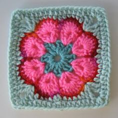 It's All About The Color: African Flower Square: No More Hexagons  Written instructions and link to YouTube video tutorial!