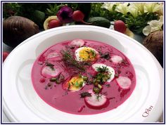 Lecker mit Geri: Erfrischende, kalte Rote-Bete Suppe (Chlodnik) - Освежаваща…