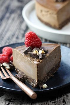 The most creamy, luscious, velvety smooth #Raw #Vegan Chocolate Cheesecake that is dairy-free, vegan and gluten-free! This blows away everybody who tries it! Just 8 ingredients. If there is one thing I enjoy doing and find an immense amount of passion in, it is creating desserts. I have always loved to bake for as long as I can remember. But,