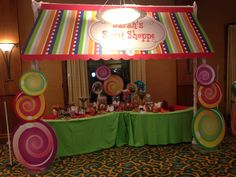 Sweet Shoppe themed Candy Bar     www.theeventscompany.com