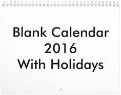 Blank Calendar 2016 Blank Monthly Calendar, Math, Math Resources, Mathematics