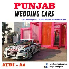 Wedding cars jaguar wedding cars in india punjab patiala wedding cars decorated audi 6 ribbons available in chandigarh jalandhar ludhiana junglespirit Choice Image