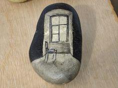 rock painting: window