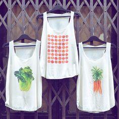 Veggie lifestyle 🍅  Vegetable inspired cute tanktop collection   #szputnyik #szputnyikshop #budapest Budapest, Vintage Fashion, Tank Tops, Instagram Posts, Prints, Shopping, Design, Women, Style