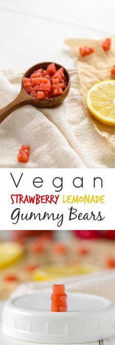 Vegan Strawberry Lemonade Gummy Bears - The Plant Philosophy