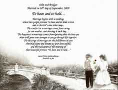 50th Wedding Anniversary Poems 25th Gift Personalized Poem