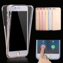 Se contorcer para iphone 7 case capa de silicone para o iphone 7 plus cor transparente fina proteção do telefone de casca mole para iphone 6 plus 5(China (Mainland))