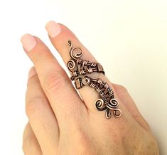 Copper Wire Ring / Wire Wrapped Ring / Wire Ring / Wire Wrapped Jewelry / Adjustable Ring / Copper Wire Jewelry / Boho Jewelry / Boho Ring by BeyhanAkman on Etsy Handmade Rings, Handmade Bracelets, Handmade Jewelry, Unique Jewelry, Boho Jewelry, Copper Wire Jewelry, Copper Rings, Wire Wrapped Bracelet, Diy Rings