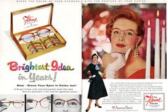 American Optical Flame Frame Adele Simpson Brightest Idea in Years 1955 Print Ad | eBay