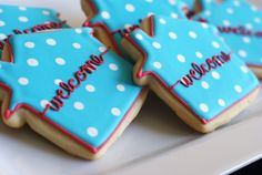 """housewarming """"welcome"""" cookies - maybe say """"home sweet home"""" instead"""