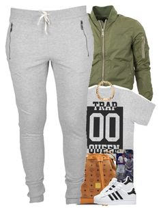 """Untitled #1425"" by power-beauty ❤ liked on Polyvore featuring MCM and adidas"