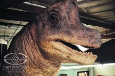 The completed Brachiosaurus puppet from JURASSIC PARK at Stan Winston Studio.