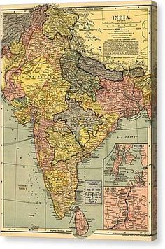 1902 map of India, then a colony within the British Empire, showing internal boundaries.