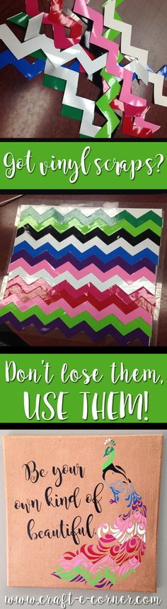 How to Craft with Vinyl Scraps #vinylallthethings / Craft-e-Corner: Blog