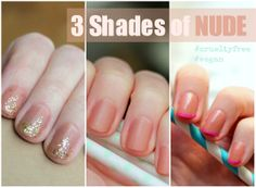 Three ways to spice up a plain Nude Nails Manicure! *ONCE UPON A CREAM Vegan Beauty Blog*