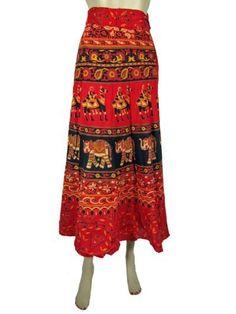 Indian Fashion Cotton Wrap Skirt Boho Gypsy Orange Camel Elephant Print Wrap Around Skirts Mogul Interior,http://www.amazon.com/dp/B00BV2NNU0/ref=cm_sw_r_pi_dp_TGmrrb1HHMN5ZZXY