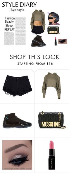 """""""STYLE DIARY #1"""" by shayla-nikole on Polyvore featuring NIKE, Moschino, Oris and Smashbox"""