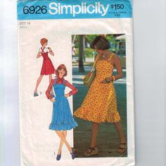 Your place to buy and sell all things handmade Modern Sewing Patterns, Simplicity Sewing Patterns, Vintage Patterns, 80s Skirts, Miss Dress, 70s Fashion, Fitted Bodice, Flare Skirt, 1970s
