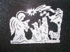vystrihovačky z papiera pre deti - Betlehem
