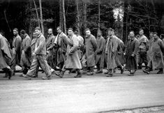 Death march of prisoners from Dachau, end of April 1945