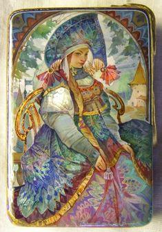 Fedoskino lacquer miniature - Folk art - Russian Spirit - Publisher - LIFE LINES Illustrations, Illustration Art, Eslava, Russian Folk Art, Russian Culture, Fairytale Art, Kandinsky, Oeuvre D'art, Collage Art