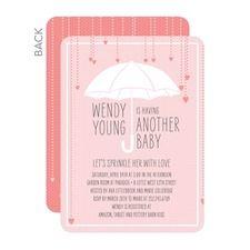 Drops of Love: Blush Girl Baby Shower Invitations