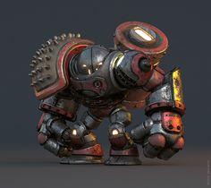 Rafael Amarante's robot creations have taken a funny turn; MetalBoss on Behance