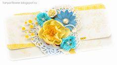 Tanya Flower: Подарочный конверт Morning Star - Yellow. Galeria Papiery