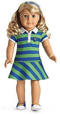 "$34.99 Lanie's Rugby meet dress underwear headband shoes for 18"" American Girl Doll NEW   eBay"