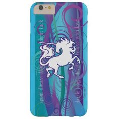 2013 Mink Tech Inspirational Unicorn 6/6 Plus Barely There iPhone 6 Plus Case - blue gifts style giftidea diy cyo