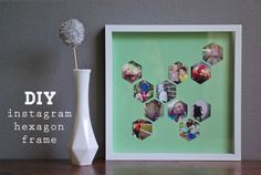 Place them in a hexagon frame. | 21 Ways To Bring Your Instagram Photos To Life