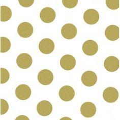 Tissue - 20x30 - 10pk - Gold Polka Dots
