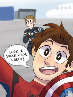 Captain America Civil War    Steve Rogers (Captain America) vs Peter Parker (Spider-Man)