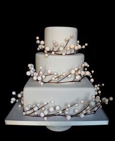 snow wedding cake