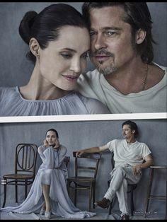 "chelebelleslair: "" Brad Pitt and Angelina Jolie on the November 11, 2015 issue of Vanity Fair Italia. """