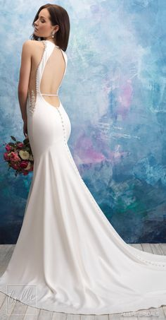 Allure Bridals Wedding Dress Collection Fall 2018 - Belle The Magazine Wedding Dress Gallery, Wedding Dress Trends, Gorgeous Wedding Dress, Bridal Wedding Dresses, Dream Wedding Dresses, Wedding Ideas, Sheath Wedding Gown, Hippy Chic, Maggie Sottero Wedding Dresses