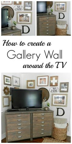How to Create A Gallery Wall - City Farmhouse New Living Room, Home And Living, Living Room Decor, Dining Room, Home Decor Wall Art, Diy Home Decor, Corner Wall Decor, Tv Decor, Colorful Furniture