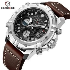 GOLDEN HOUR Fashion Luxury Waterproof Military Sports Watches