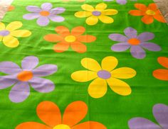 1960s cotton fabric