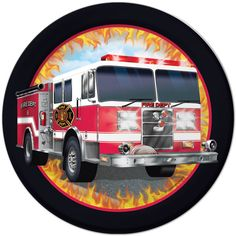 These Fire Watch boys birthday dinner plates are ready for a party! These fun, premium strength plates feature a bright red fire truck with a fun, flaming border. These 9 inch plates are sold in packs of 8 each. Birthday Lunch, Boy Birthday, Fireman Birthday, Birthday Cakes, Birthday Parties, Party Plates, Dessert Plates, Dinner Plates, Party Tableware