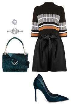 Elegant💎 by dalma-m on Polyvore featuring polyvore fashion style Native Youth Boohoo Gianvito Rossi Fendi Caravelle by Bulova clothing